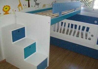 Cama puente con cuna 3