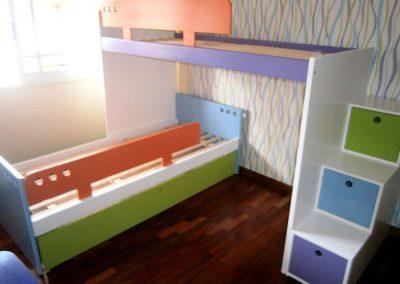 Cama puente con diván 1
