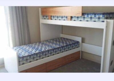 Cama puente con cama divan