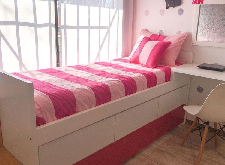 3 cama con cajones y carro