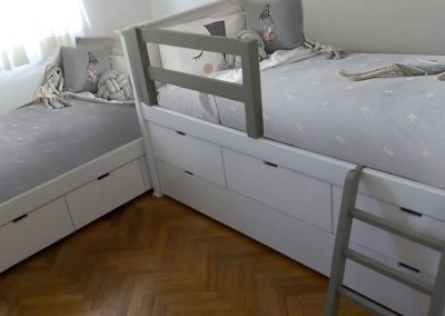 Cama diván y cama con guardado